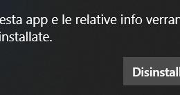 Disinstallare le app integrate di Windows 10