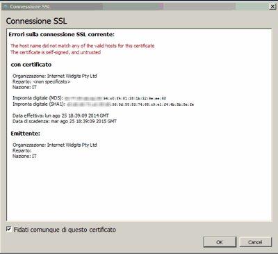 ssl connessione certificato